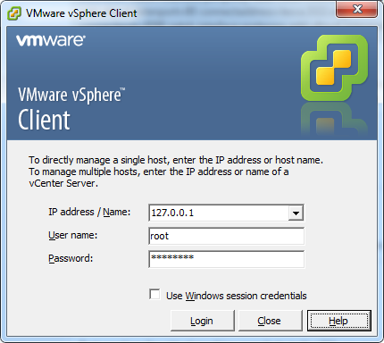 vSphere Client: Ports redirect with portproxy on Windows 7 (端口转发)